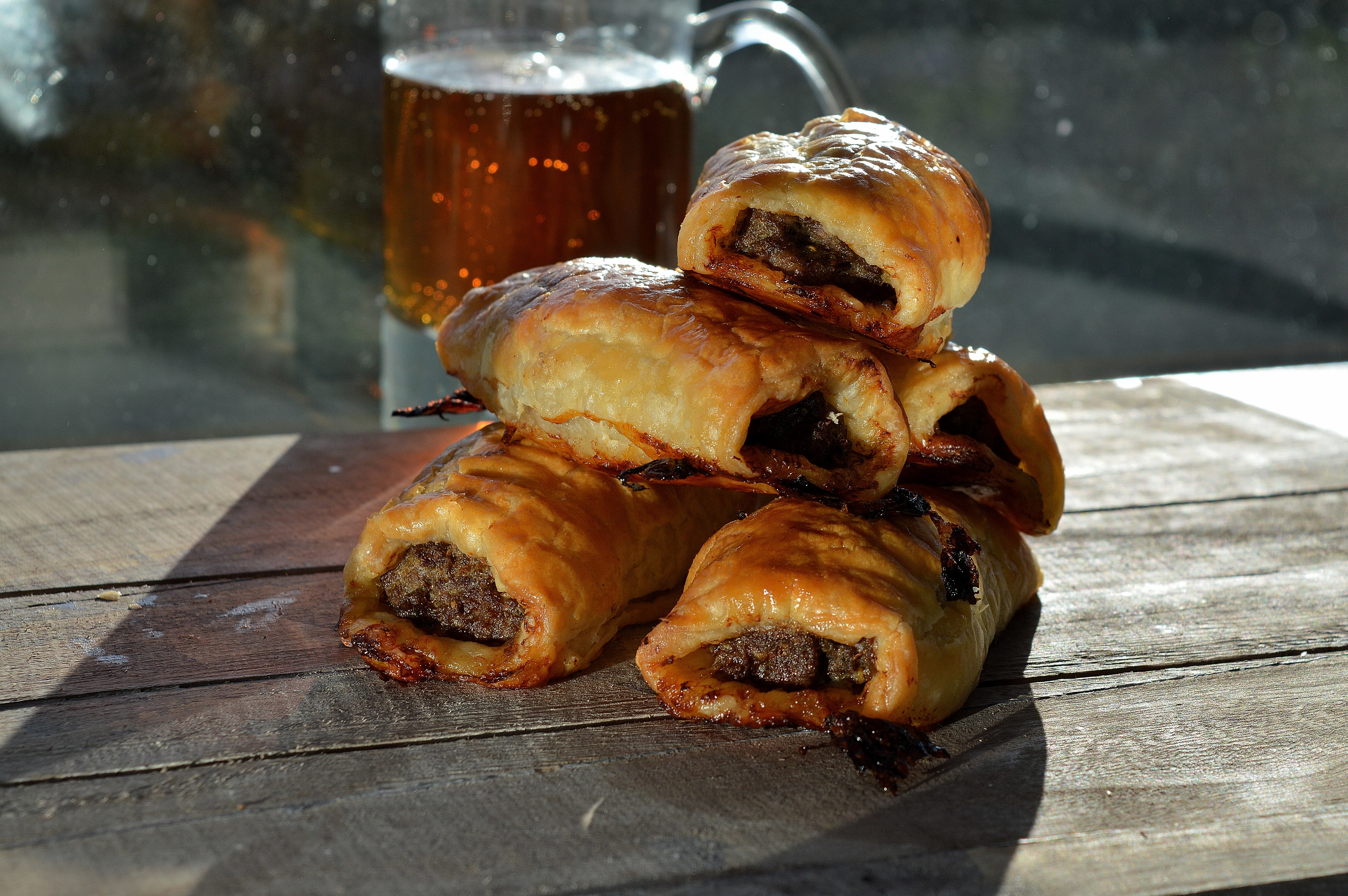 Home made sausage rolls