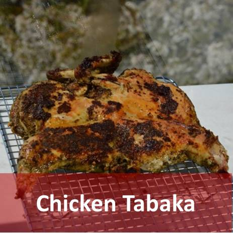 Pan-fried chicken tabaka